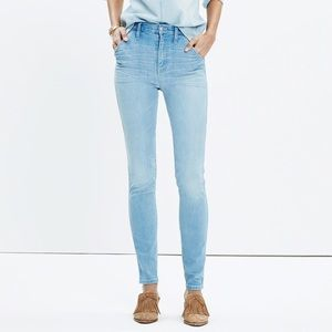 Madewell rivet thread extra high rise skinny jeans